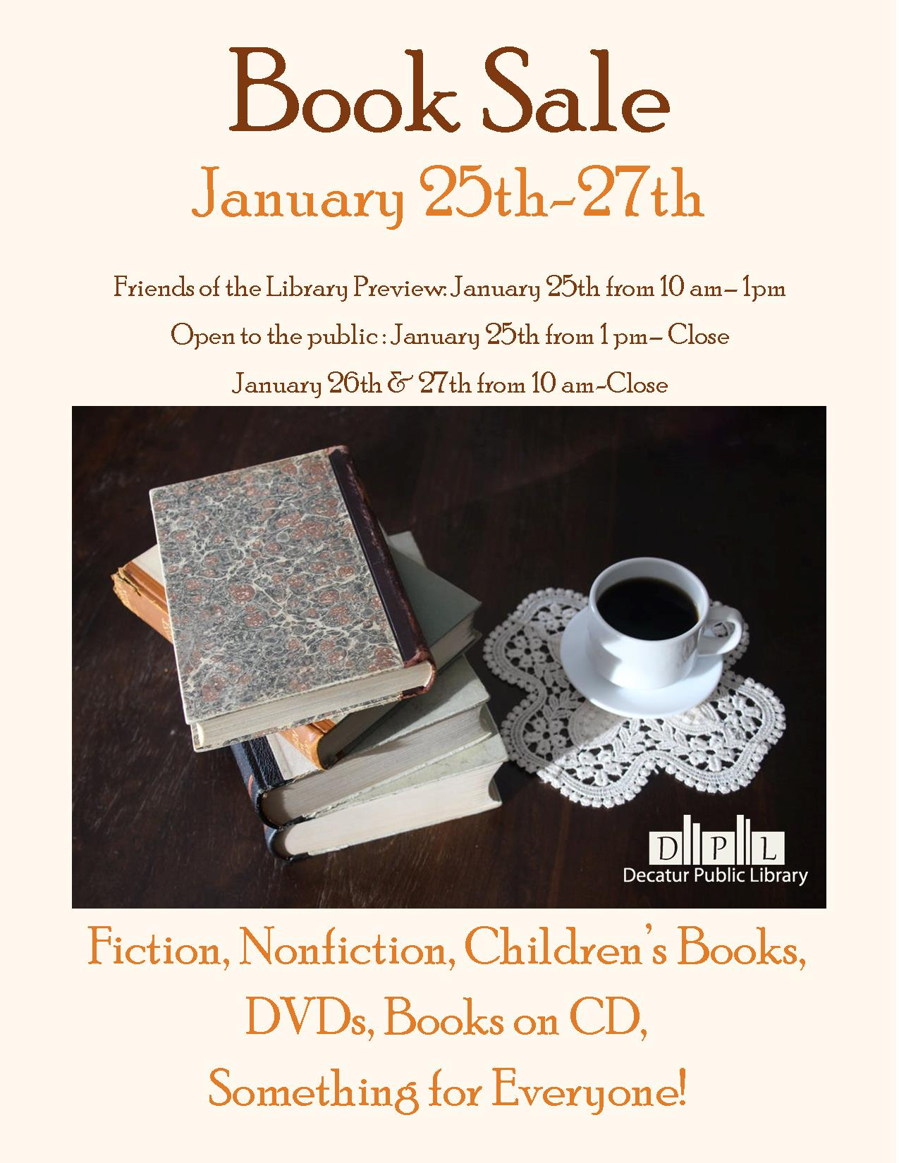 book sale January 2018