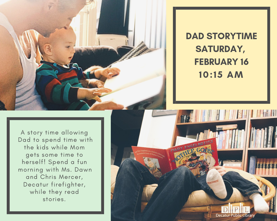 Dad Storytime Saturday, February 16 10_15 am